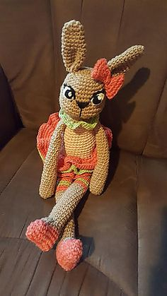 This beautiful Ballerina Bunny is relatively easy to make, and extremely cuddly! Tigger, Ballerina, Disney Characters, Fictional Characters, Knit Crochet, My Design, Bunny, Knitting, Easy