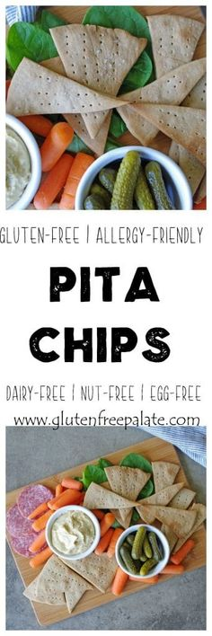 Gluten-Free, Allergy-Friendly Pita Chips that are flavorful and crunchy. With a few simple ingredients and one bowl, you can make gluten-free pita chips from scratch.