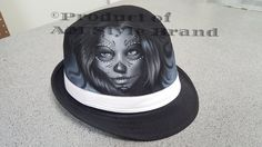 Day of the dead, Tattoo Style, Airbrush Art, Chicano Art, Skull Design - Unique! by AMStyleBrand on Etsy