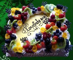 Торт с фруктами — купить в Киеве. Лучшая цена на Праздничные торты, торт на день Рождения