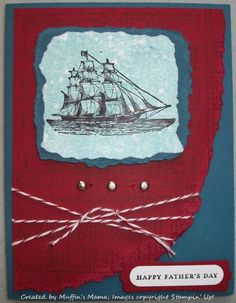 Shimmered Ship #1 by Muffin's Mama - Cards and Paper Crafts at Splitcoaststampers