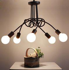 Ceiling Fixtures, Ceiling Lamp, Ceiling Lights, Room Lights, Hanging Lights, Hanging Lamps, Black Chandelier, Iron Art, Luminaire Design