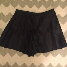 NWT Keepsake the Label Skort Size XL A brand new with tags Keepsake the Label Black Pleated Skort. It looks like a skirt in the front and shorts in the back. Zips up the back. The material has a beautiful sheen to it. This would fit a size L or XL. These have been seen on popular fashion blogger Amiee Song of Song of Style! Keepsake the Label Shorts Skorts