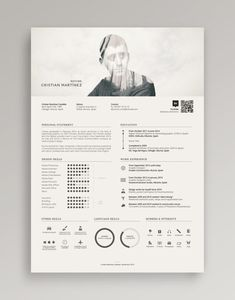 Resume / Curriculum Vitae on Behance More - Cv Resumes - CV Examples - Resume Examples - Resume Images Modern Resume Template, Creative Resume Templates, Creative Resume Design, Conception Cv, Cv Digital, Resume Designer, Artist Resume, Artist Cv, Cv Photoshop