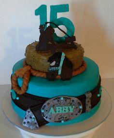 Abby's breakaway roping cake :)