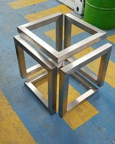 Ideas for table footing! – Table world Welded Furniture, Steel Furniture, Industrial Furniture, Table Furniture, Furniture Design, Mesa Metal, Wood And Metal, Metal Projects, Welding Projects