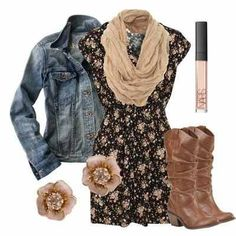 Combat boots would be better but still cute outfit