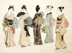 We simply adore these costume sketches for our upcoming production of Madama Butterfly. Although... they're more pieces of art than simple sketches!