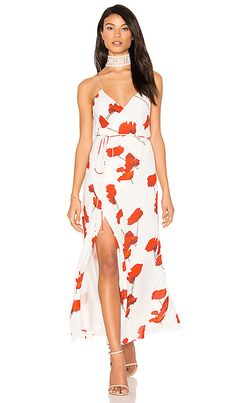 Shop for Michelle Mason Strappy Wrap Dress in Poppy Print at REVOLVE. Free 2-3 day shipping and returns, 30 day price match guarantee.