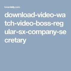 download-video-watch-video-boss-regular-sx-company-secretary