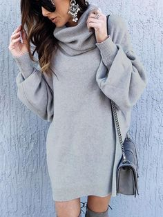 Product Name Casual Loose long high collar knitting sweater Mini dress Brand Shkeysshop SKU Gender Women Type M Loose Knit Sweaters, Casual Sweaters, Long Sweaters, Sweaters For Women, Knitting Sweaters, Pull Long, Oversized Pullover, Cardigan En Maille, Pullover Outfit