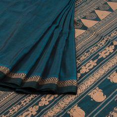 Buy online Handwoven Blue Niyamgiri Tussar Silk Saree 10013159