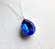 Sapphire Blue Necklace
