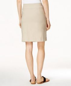 Charter Club Pull-On Skort, Only at Macy's - Tan/Beige 10