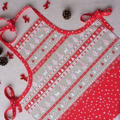Купить Детский колпак и фартук - ярко-красный, текстиль для кухни, фартук передник, комплект для кухни