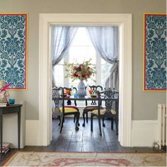 i gotta frame some of my damask wallpaper. like how the borders are fun here