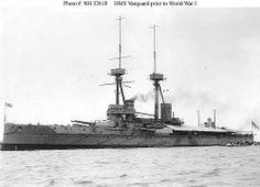 HMS Vanguard seen here in 1910