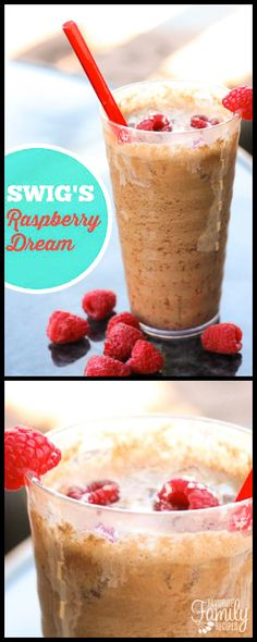 All you soda drinkers out there will LOVE Our Version of Swig's Raspberry Dream Soda! Pepper, raspberries, coconut, and more create a dream of a drink! Raspberry Drink, Delicious Desserts, Yummy Food, Copycat Recipes, Drink Recipes, Dr Pepper, Family Meals, Family Recipes, Sweet Recipes