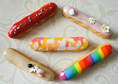 Colorful Eclairs - Oh this is a great, great idea, when will you come to Chicago?! I would serve these beauties at every brunch.