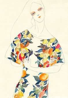 Fashion inspired drawings by Perth-based illustrator Jiiakuann. More below.       Jiiakuann's Website