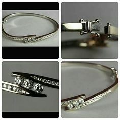 *Appraisal Included*14k White Gold Diamond Bangle Perfect condition STUNNING!! White gold genuine diamond ladies hinged bangle bracelet with a written professional appraisal. Appraised at $3,600. Bracelet is solid white gold, weighs over 17 grams and features a full carat of excellent quality diamonds. Some of which are large and VS Quality. This is the gold bangle everyone wants and is truly beautiful. The appraisal will come with the purchase as well as a gift box. There is no trade or…