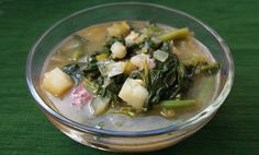 Winter Spinach Soup - skip potato & Parmesan to make candida friendly. When Candida's under control, add them back