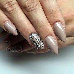 Gelpolish Milkshake by Barbara Bebej FollyNails, Indigo Zduńska Wola #nails #nail #nailart #indigo #nude #black #white #classy #milkshake
