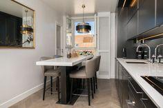Gunmetal Kitchen, bespoke bar table Interior Architecture, Interior Design, Home Decor Accessories, Vintage Furniture, Bespoke, Bar, Contemporary, Kitchen, Table