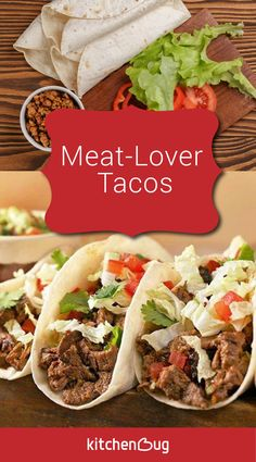 Having taco night? These meaty taco are really easy and definitely a crowd-pleaser. Click the pin for the meat-lover taco recipe. Not having taco night? That's okay, you can make tacos anyway!