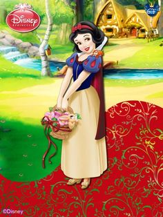 Snow White is the first disney princess . it is right that she was the first of my new series of princesses with the colors of the original film. The colors were taken from the original screencaps ...