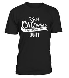 Cat ladies-born in July - Women's V-Neck T-Shirt  Funny womens cat T-shirt, Best womens cat T-shirt