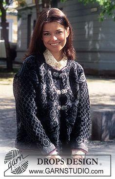DROPS nordisk trøje med Franske Liljer i Karisma ~ DROPS Design