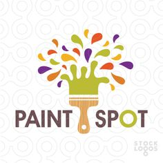 Logo for sale: Fun design of a painters brush with splashes of paint creating a the impression of a tree. The paint brush has a wood texture effect to represent the trunk of the tree. Painting For Kids, House Painting, Art For Kids, Painting Logo, Craft Logo, Paint And Drink, Logo Desing, Logo Samples, Church Design
