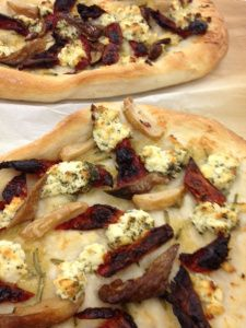 Focaccia with goat cheese