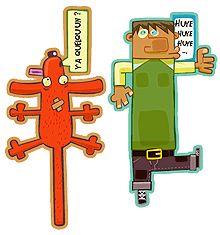 Découpage des marque-pages coloriées avec des personnages de dessins animés pour ne plus se perdre