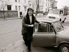 "While driving round Primrose hill , London in this car Macca spotted a man wandering around , this gave him the idea for the song ""The fool on the hill""."