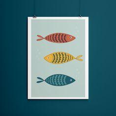 Nasze plakaty będą niebanalną dekoracją każdego wnętrza. Fish, Poster, Pisces, Billboard