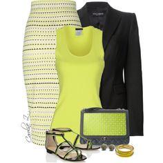 """""""Printed Pencil Skirt & Blazer"""" by carolinez1 on Polyvore"""