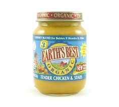 Earth`s Best Junior Baby Food Organic - Tender Chicken and Stars Dinner, 6-Ounce Jars (Pack of 12)