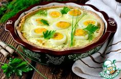 Киш с капустой и яйцами - кулинарный рецепт