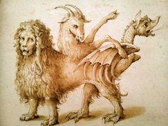 La Chimera ~ Jacopo Ligozzi 1590 / 1610