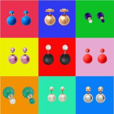Dior Pop Art  Earrings Mise en Dior Tribal Colours Models