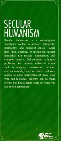 Secular Humanism in a nutshell