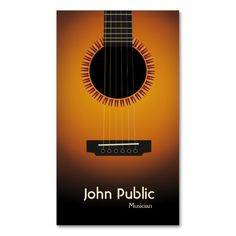 305 best musician business cards images on pinterest business modern elegant guitar musician business card colourmoves