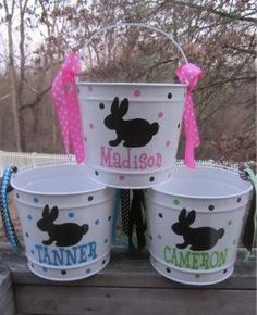 Easter buckets with UL! http://agardner.uppercaseliving.net