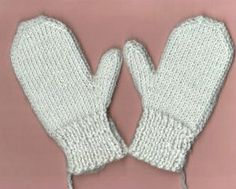 Tunisian crochet mittens with knitted ribbing