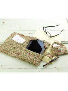 Taking Care of Business free crochet e-reader holder pattern