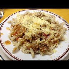 Fusile al Ragú de Lomito @Restaurant Bologna, Caracas.