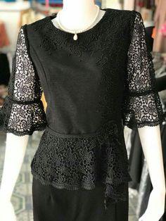 Thailand Fashion, Thai Dress, Modest Wear, Blouse And Skirt, Plus Size Womens Clothing, Kebaya, African Women, Traditional Dresses, Silk Dress