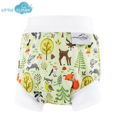 !!white will show stains!! Little Clouds - Überhose (Schlupfhose) - Forest**also available at stoffywelt (where bought capri covers)**